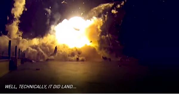 失敗は成功の元? SpaceXのロケット着陸失敗まとめ動画(なんと公式)